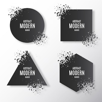 Broken moderne banner-sammlung