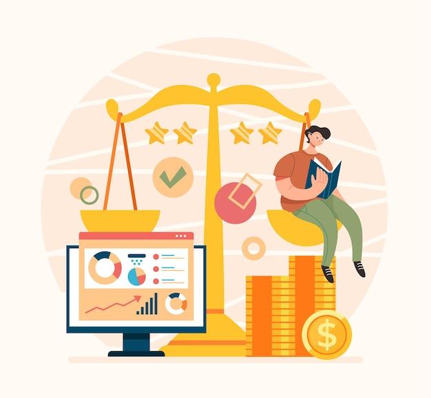 Broker service analytical consultant advisor konzept