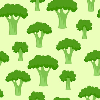 Brokkoli nahtloses muster.