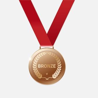 Bronze champion medaillen mit band.