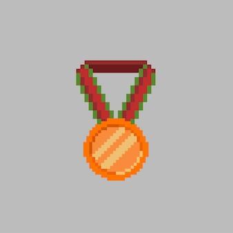 Bronzemedaille im pixel-art-stil
