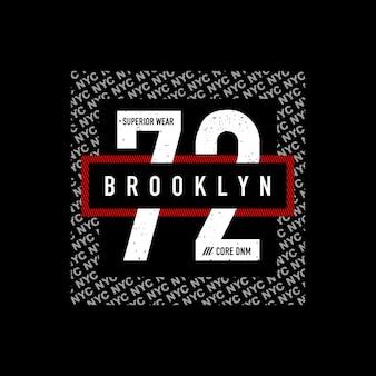 Brooklyn 72 t-shirt design typografie vektorillustration premium-vektor
