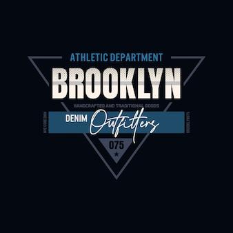 Brooklyn-ausstatter-typografie-t-shirt-design premium-vektoren