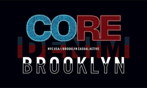 Brooklyn core denim grafik