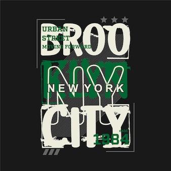 Brooklyn grafische typografie t-shirt design modeillustration gut für lässigen stil