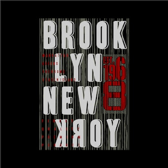 Brooklyn linie abstrakte grafische typografie design denim vintage