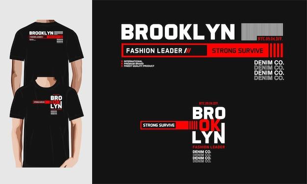 Brooklyn modeführer t-shirt design
