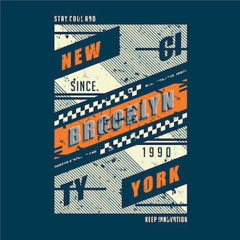 Brooklyn new york city grafik typografie abstraktes design