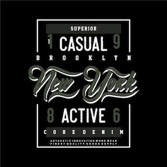 Brooklyn new york city grafik typografie t-shirt design illustration casual active