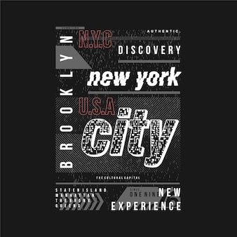 Brooklyn new york city textrahmen grafik typografie