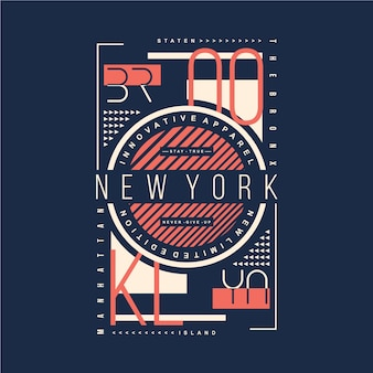 Brooklyn new york grafik t-shirt design typografie