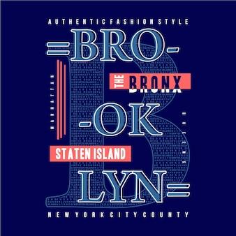 Brooklyn new york grafik typografie design