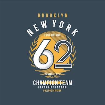 Brooklyn new york sport t-shirt