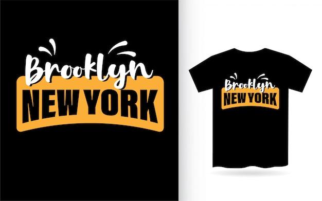 Brooklyn new york typografie