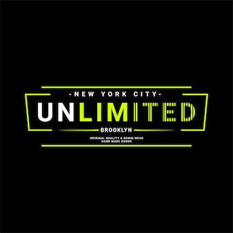 Brooklyn-schreibdesign, geeignet für den siebdruck von t-shirts, kleidung, jacken und anderen
