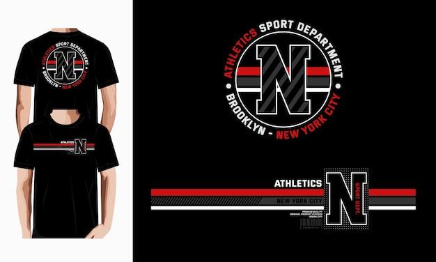 Brooklyn sportliche abteilung grafische typografie-t-shirt-vektor-designillustration premium-vektor