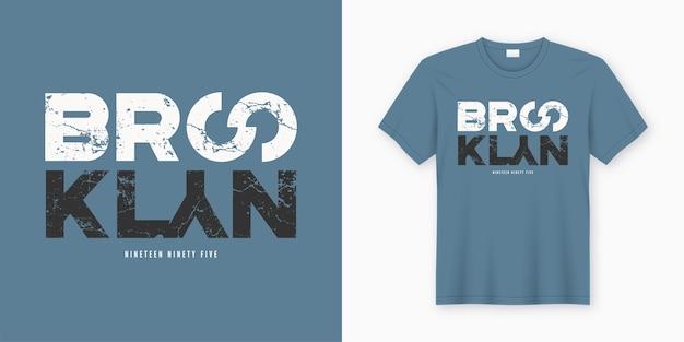 Brooklyn stilvolles t-shirt und kleidungsdesign. druck, typografie, poster. globale farbfelder.