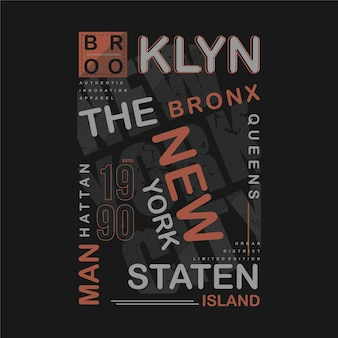 Brooklyn textrahmen grafik t-shirt coole typografie illustration