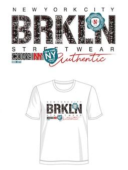 Brooklyn-typografie für druckt-shirt