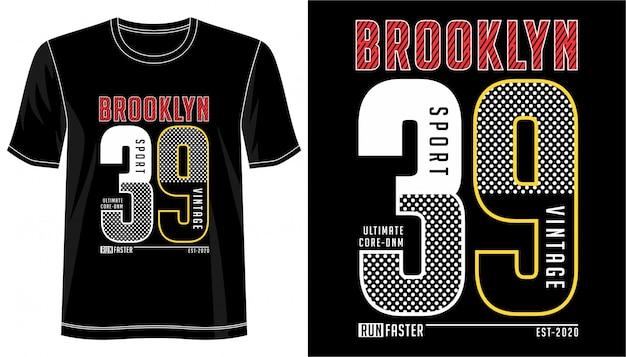 Brooklyn typografie für print t-shirt