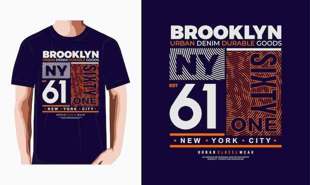 Brooklyn typografie t-shirt design premium vektor premium-vektor