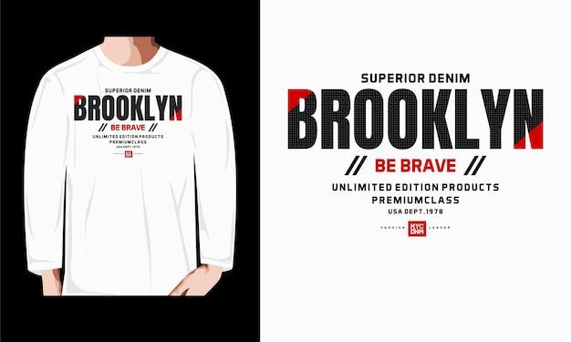 Brooklyn typografie t-shirt design premium-vektoren