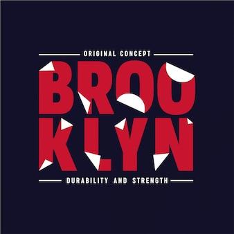 Brooklyn - typografie Premium Vektoren