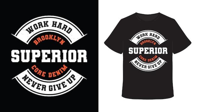 Brooklyn überlegenes typografie-t-shirt-design