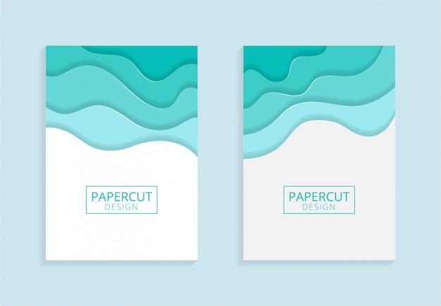 Broschüre a4 vorlage mit papercut-stil