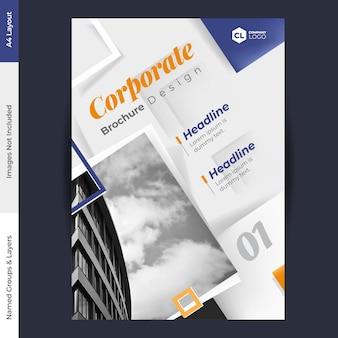 Broschüre design vektor vorlage