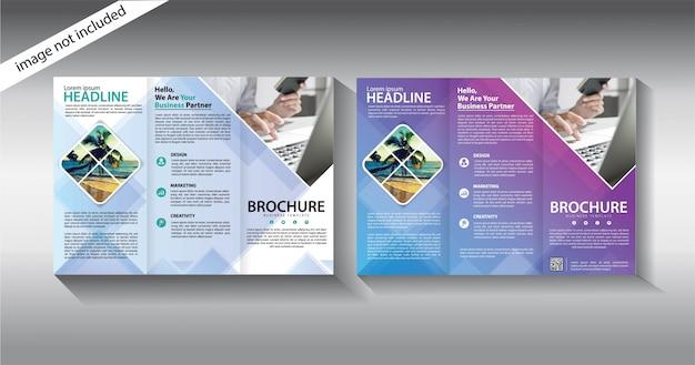 Broschüre dreifach gefaltet für promotion-vorlage