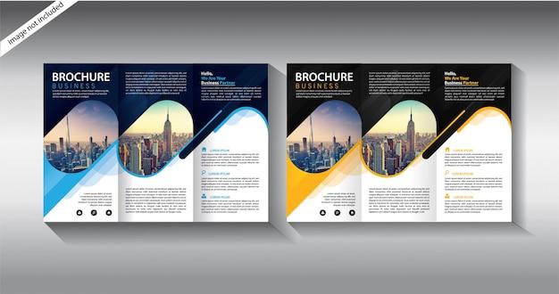 Broschüre dreifach gefaltete vorlage für layout-broschüre