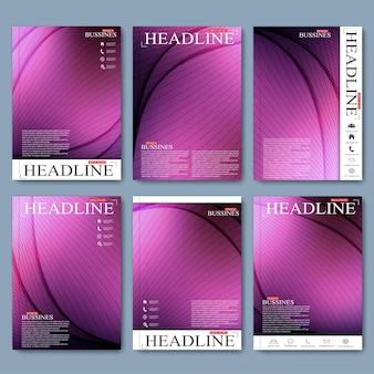 Broschüre flyer booklet cover oder jahresbericht im a4-format