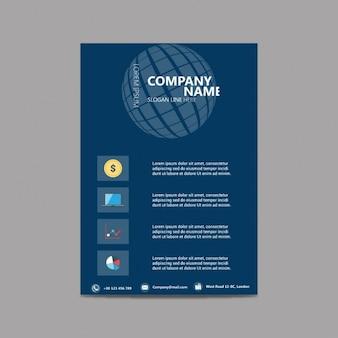 Broschüre flyer design layout-vorlage