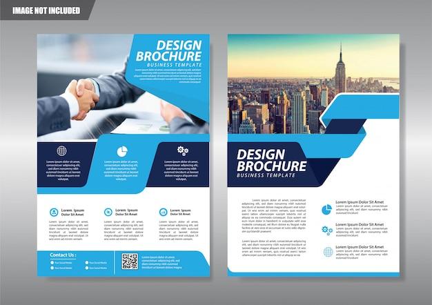 Broschüre flyer oder broschüre hintergrund jahresbericht