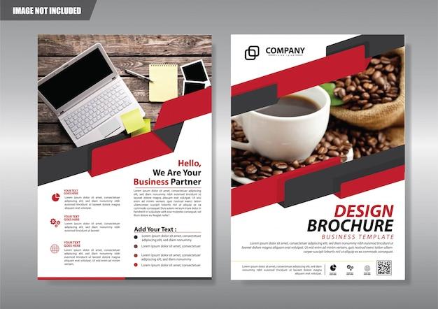 Broschüre flyer oder broschürenhintergrund jahresbericht abdecken