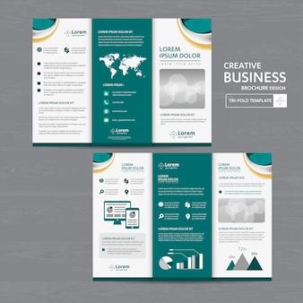 Broschüre geschäft dreifach gefaltete broschüre