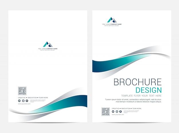 Broschüre layoutvorlage, cover-design