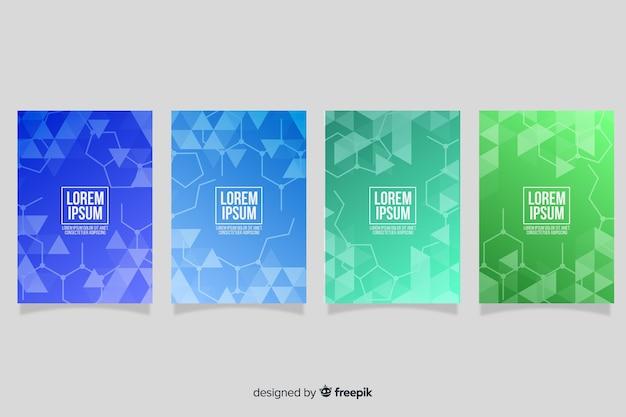 Broschüre mit farbverlaufstechnologie
