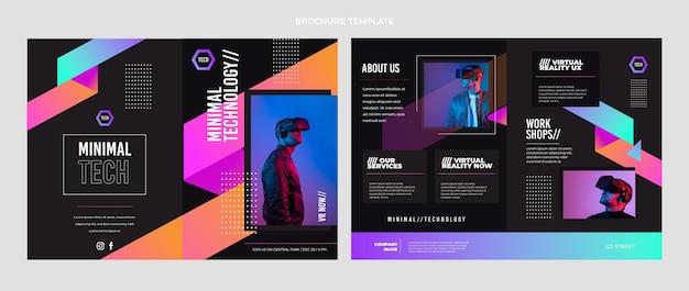 Broschüre mit minimaler technologie im flachen design