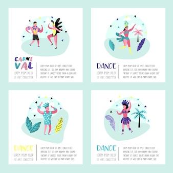 Broschüre mit tanzenden charakterleuten