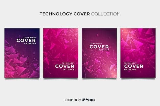 Broschüre mit technologie-stil