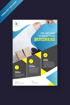 Broschüre vorlage für corporate business flyer