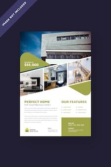 Broschüre vorlage für immobilien-flyer