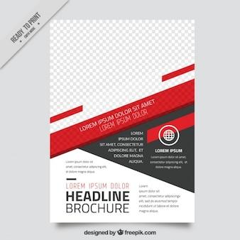 Broschüre vorlage von abstrakten formen