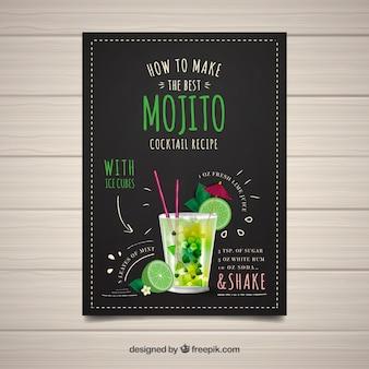 Broschüre, wie man ein mojito macht