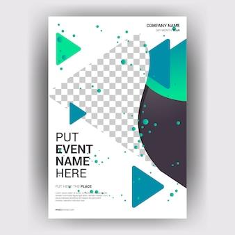 Broschüre wirtschaftsmagazin mit geometrischem layoutkonzept