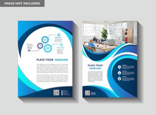 Broschüren-cover-design für geschäftsbücher in a4