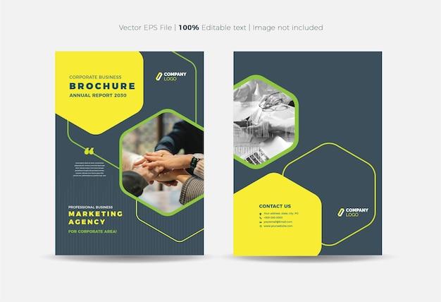 Broschüren-cover-design oder geschäftsbericht- und firmenprofil-cover oder booklet- und katalog-cover Premium Vektoren