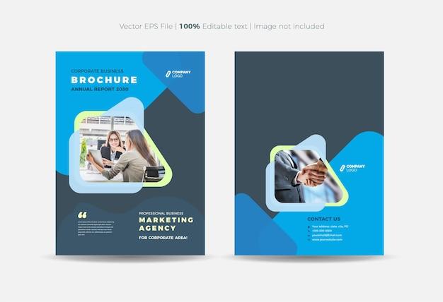 Broschüren-cover-design oder geschäftsbericht- und firmenprofil-cover oder booklet- und katalog-cover